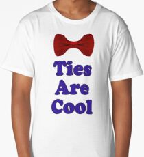 Who Says - Bow Ties Are Cool? - T-Shirt Sticker Long T-Shirt