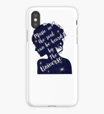 Music In The Soul Can Be Heard By The Universe  iPhone Case