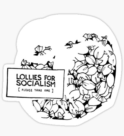 Lollies for Socialism Sticker