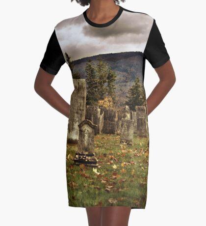 Vermont Cemetery III Graphic T-Shirt Dress
