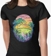 Going On A Walk Womens Fitted T-Shirt