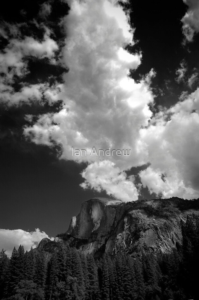 Half Dome - Clouds by Ian Andrew