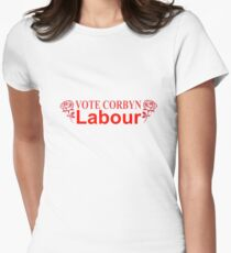 vote corbyn Womens Fitted T-Shirt