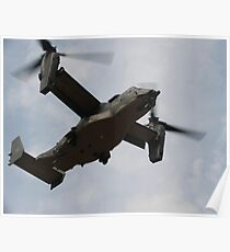 A U.S. Air Force CV-22 Osprey tiltrotor aircraft. Poster