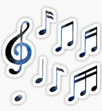 Watercolor musical notes Sticker