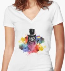 BABADOOK RAINBOW LGBT Women's Fitted V-Neck T-Shirt