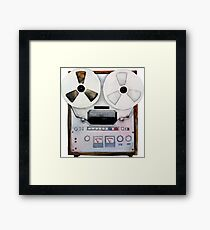 Watercolor reel tape recorder Framed Print