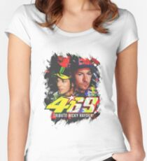 Valentino rossi Tributes to Nicky Hayden Women's Fitted Scoop T-Shirt