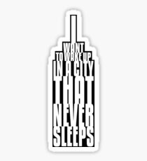 The City That Never Sleeps Sticker