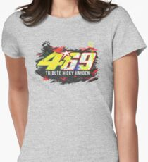 Valentino Rossi tribute Nicky Hayden Womens Fitted T-Shirt