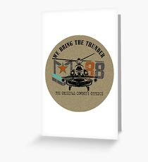 American Army helicopter illustration  Greeting Card