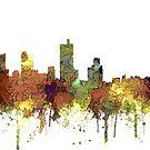 Fort Worth, Texas Skyline SG - Safari Buff von Marlene Watson