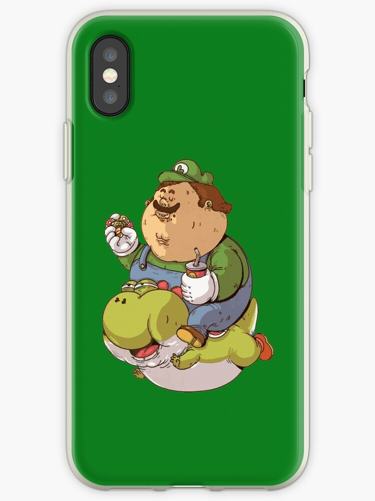 Fat Luigi And Yoshi Iphone Cases Covers By Gknation Redbubble