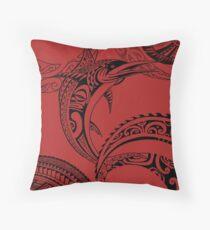 Polynesian Fish Throw Pillow