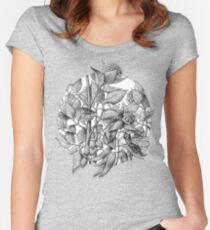 Hortensias theme fantasy1 Women's Fitted Scoop T-Shirt