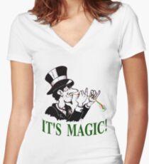 Magic Trix Women's Fitted V-Neck T-Shirt