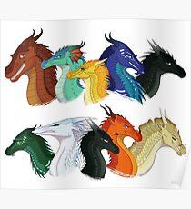 Flügel des Feuers - POV Charaktere Poster