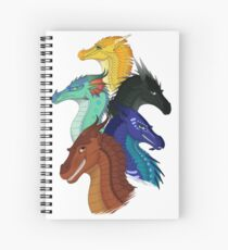 Wings of Fire First Arc Main Characters Spiral Notebook