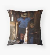 The shearer and his son Throw Pillow