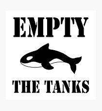 Empty the Tanks - white Photographic Print