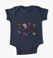 A set of small embroideries, stickers. One Piece - Short Sleeve
