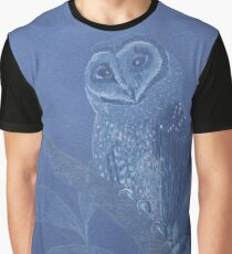 Australian Sooty Owl, colour pencil art Graphic T-Shirt