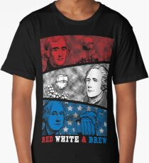 Red, White and Brew! Long T-Shirt