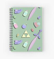 Zelda Items Spiral Notebook