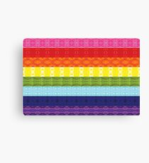 Patterned Print Pride Flag (Original 8-Colors) - Horizontal Canvas Print