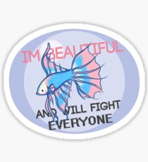 Beauty and the Butterfly Kick - Trans Pride Sticker