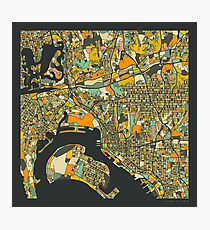 SAN DIEGO MAP Photographic Print
