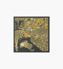 SAN DIEGO MAP Art Board