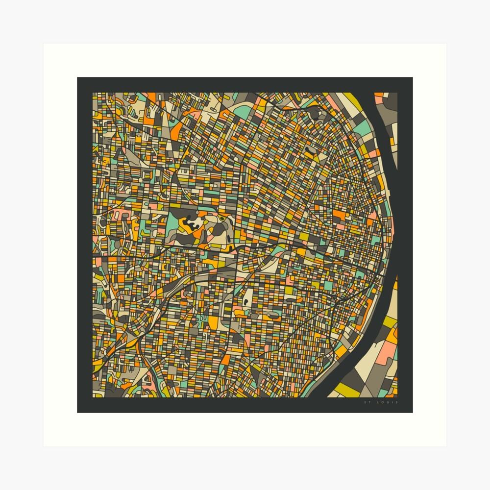 ST LOUIS MAP Art Print