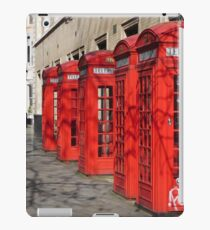 Red Telephone Booths, London iPad Case/Skin