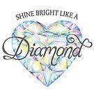 Heart shaped diamond watercolor art by Sarah Trett