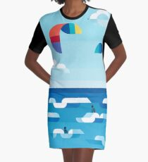 Kites dance Graphic T-Shirt Dress
