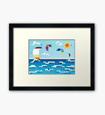 Kites dance Framed Print
