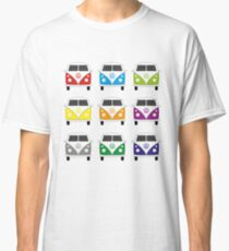 Colourful VW split screen camper vans Classic T-Shirt
