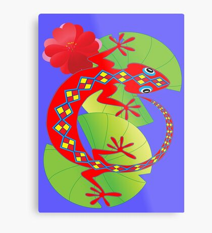 Connection to the Spirit World (Lizard)  Metal Print