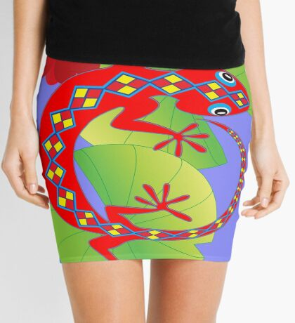 Connection to the Spirit World (Lizard)  Mini Skirt