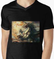 Dragon Final Men's V-Neck T-Shirt
