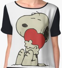 Snoopy love Chiffon Top