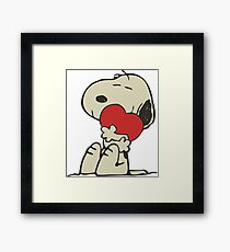 Snoopy love Framed Print