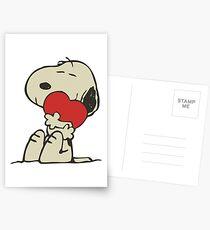 Snoopy love Postcards