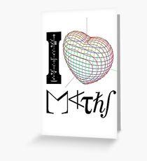 I (love) Maths Greeting Card
