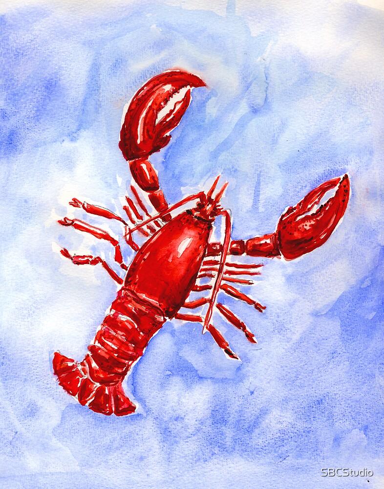 Lobster Watercolor by SBCStudio