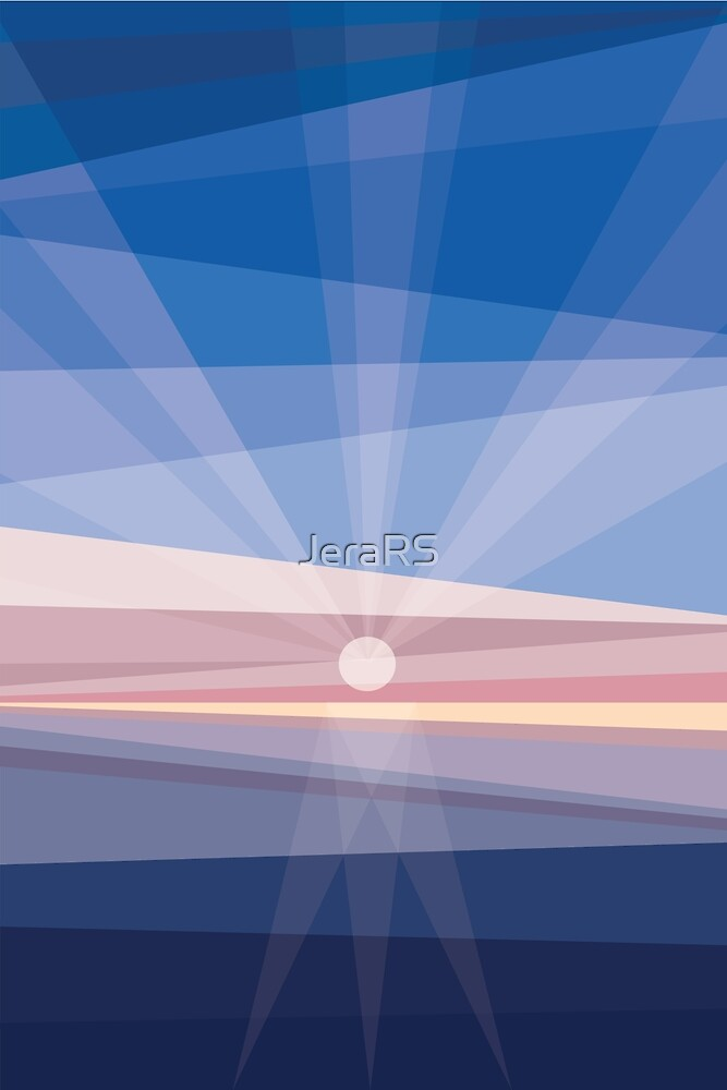 Sunrise on shore. Geometric abstract by Jera RS