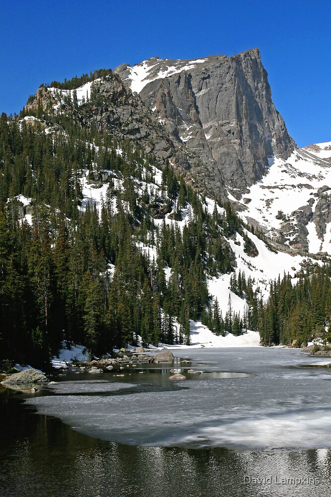 Halletts Peak Over Dream Lake by David Lampkins