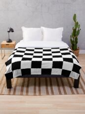 Chequered Flag Checkered Racing Car Winner Bedspread Duvet Phone Case Throw Blanket