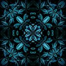 Teal Leaves Mandala by daisy-beatrice